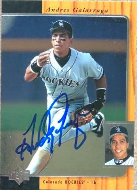 Andres Galarraga Autographed 1996 SP #77