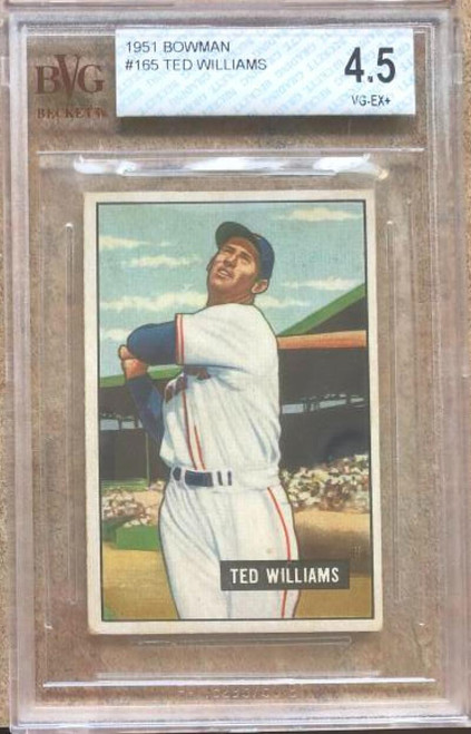 Ted Williams 1951 Bowman #165 Beckett 4.5 Slabbed
