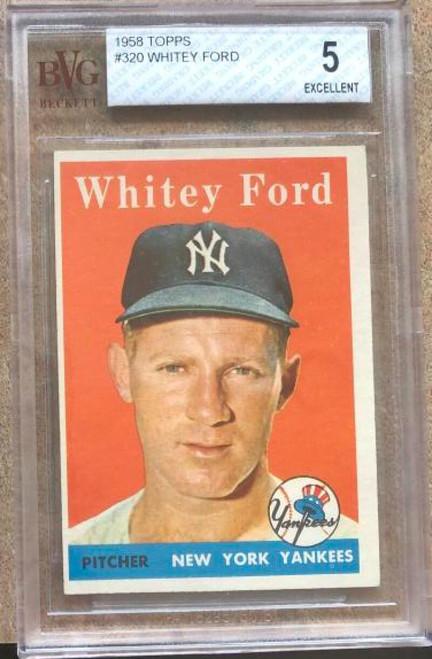 Whitey Ford 1958 Topps #320 Beckett 5 Slabbed