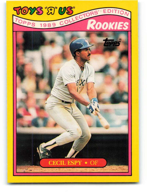 1989 Topps Toys R Us Rookies #8 Cecil Espy NM-MT  Texas Rangers