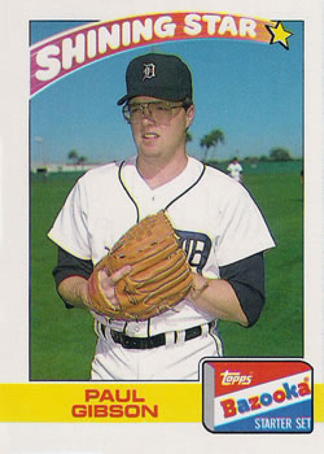 1989 Topps Bazooka #11 Paul Gibson NM-MT Detroit Tigers