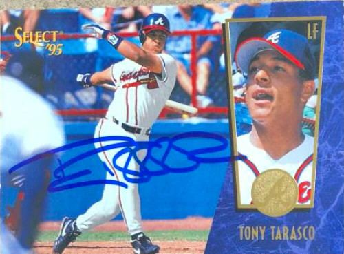 Tony Tarasco Autographed 1995 Score Select #43