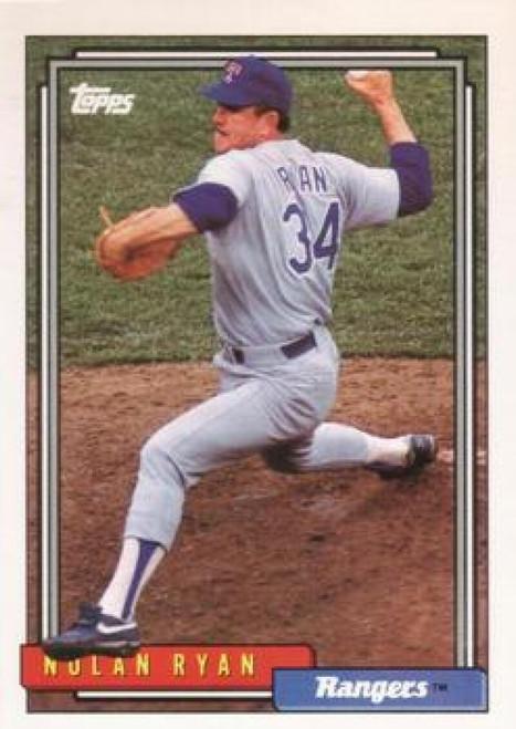 1992 Topps #1 Nolan Ryan VG Texas Rangers