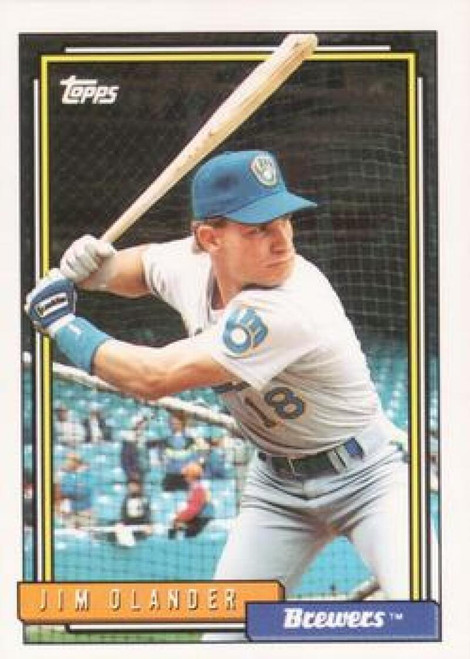 1992 Topps #7 Jim Olander VG RC Rookie Milwaukee Brewers
