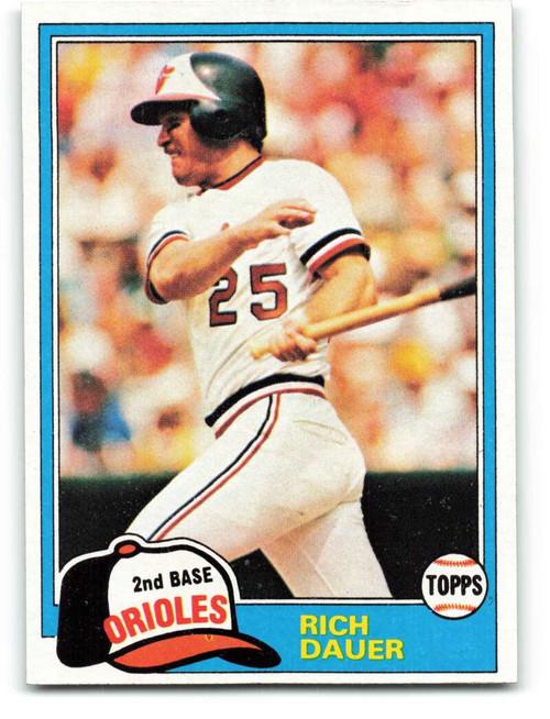 1981 Topps #314 Rich Dauer VG Baltimore Orioles