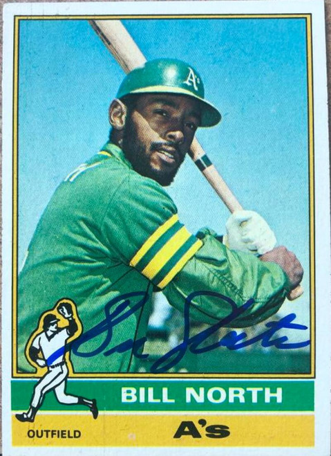 Bill North Autographed 1976 Topps #33