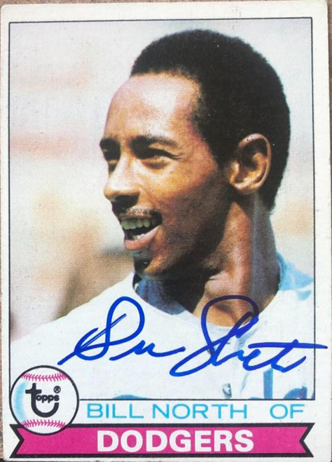 Bill North Autographed 1979 Topps #668