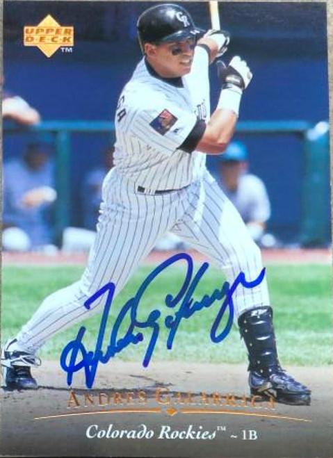 Andres Galarraga Autographed 1995 Upper Deck #410