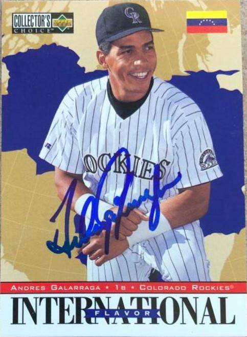 Andres Galarraga Autographed 1996 Collectors Choice #341
