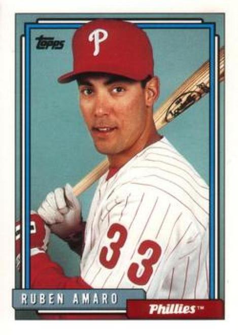 1992 Topps Traded #5T Ruben Amaro VG Philadelphia Phillies
