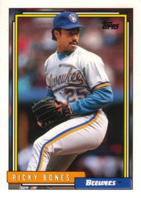 1992 Topps Traded #13T Ricky Bones VG Milwaukee Brewers