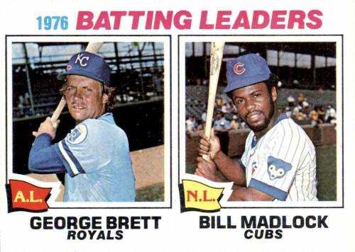1977 Topps #1 George Brett/Bill Madlock Batting Leaders VG Kansas City Royals/Chicago Cubs