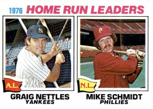 1977 Topps #2 Graig Nettles/Mike Schmidt Home Run Leaders VG New York Yankees/Philadelphia Phillies
