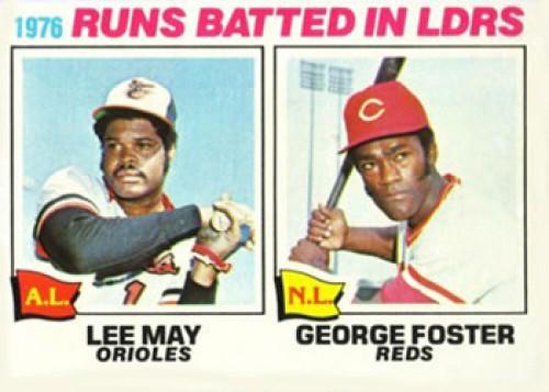 1977 Topps #3 Lee May/George Foster RBI Leaders VG Baltimore Orioles/Cincinnati Reds