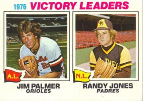 1977 Topps #5 Jim Palmer/Randy Jones Victory Leaders VG Baltimore Orioles/San Diego Padres