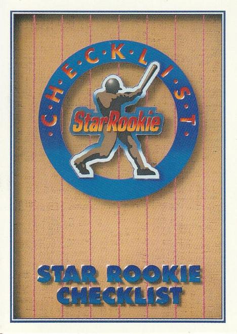 1991 Upper Deck #1 Star Rookie Checklist VG Checklist