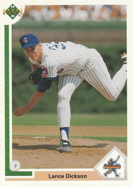 1991 Upper Deck #9 Lance Dickson VG RC Rookie Chicago Cubs