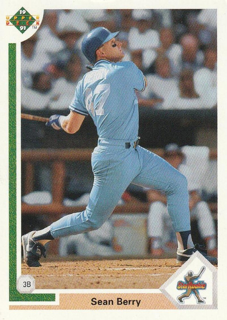 1991 Upper Deck #10 Sean Berry VG RC Rookie Kansas City Royals