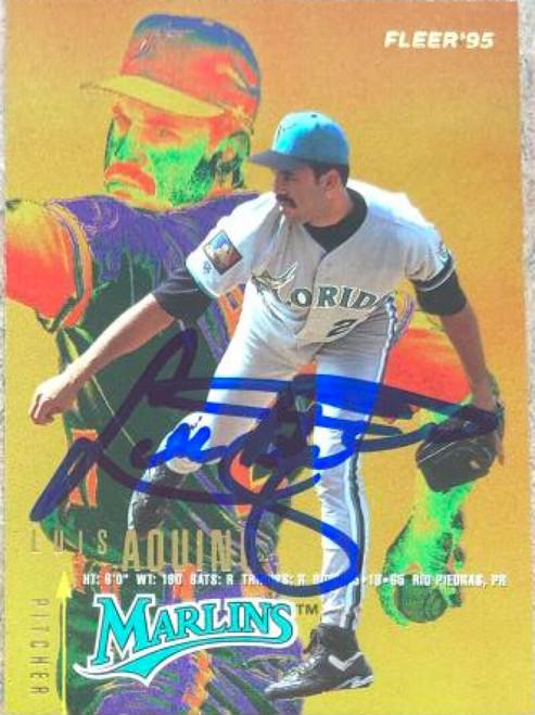 Luis Aquino Autographed 1995 Fleer #324
