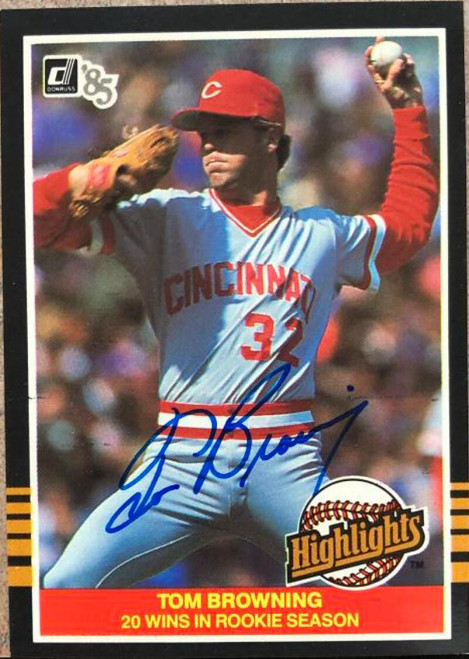 Tom Browning Autographed 1985 Donruss Highlights #43