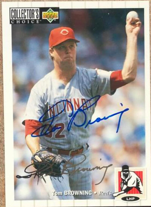 Tom Browning Autographed 1994 Collectors Choice Silver Signature #439