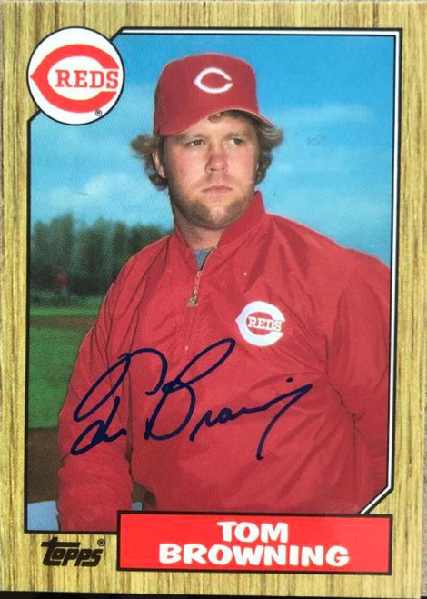 Tom Browning Autographed 1987 Topps Tiffany #65