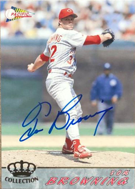 Tom Browning Autographed 1994 Pacific Crown Collection #142
