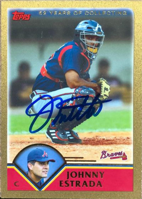 Johnny Estrada Autographed 2003 Topps Traded & Rookies Gold #T25 LE/2003