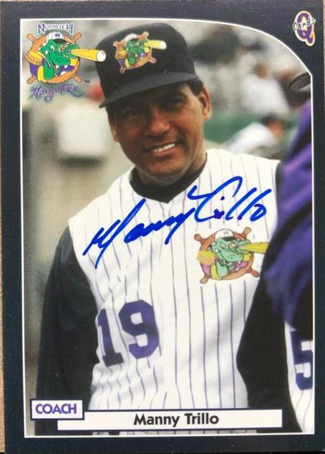 Manny Trillo Autographed 2000 Blueline Q-Cards Norwich Navigators #29