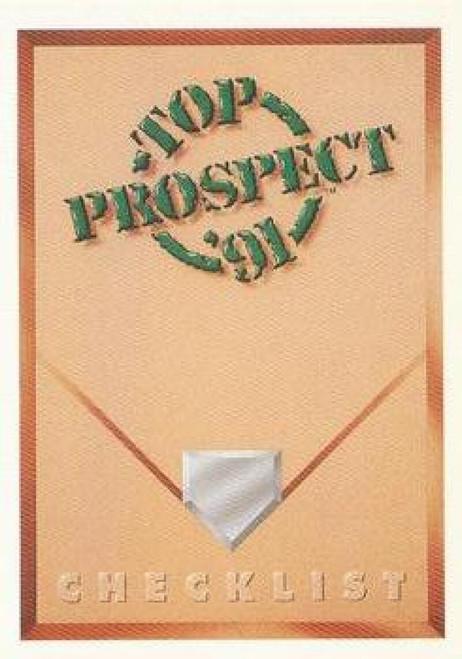 1991 Upper Deck #50 Top Prospect Checklist VG Checklist