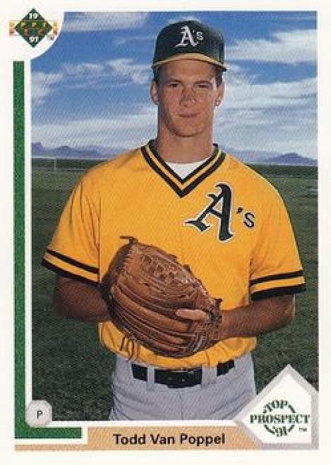 1991 Upper Deck #53 Todd Van Poppel UER VG RC Rookie Oakland Athletics