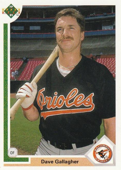 1991 Upper Deck #508 Dave Gallagher VG Baltimore Orioles