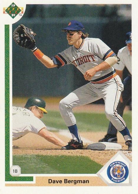 1991 Upper Deck #599 Dave Bergman VG Detroit Tigers