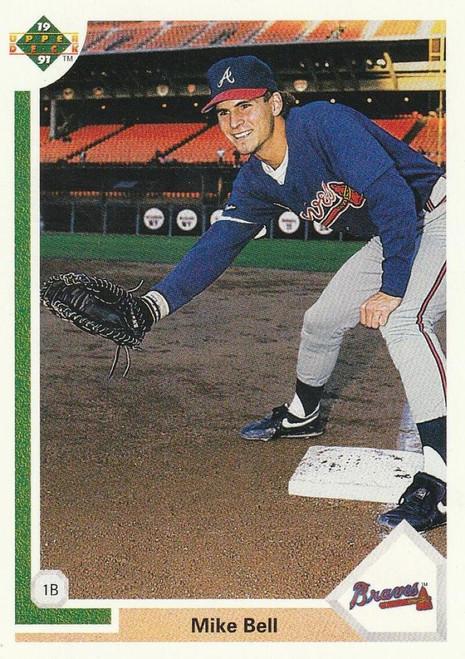 1991 Upper Deck #644 Mike Bell VG RC Rookie Atlanta Braves
