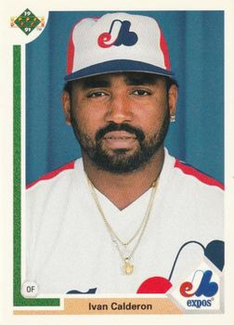 1991 Upper Deck #786 Ivan Calderon VG Montreal Expos