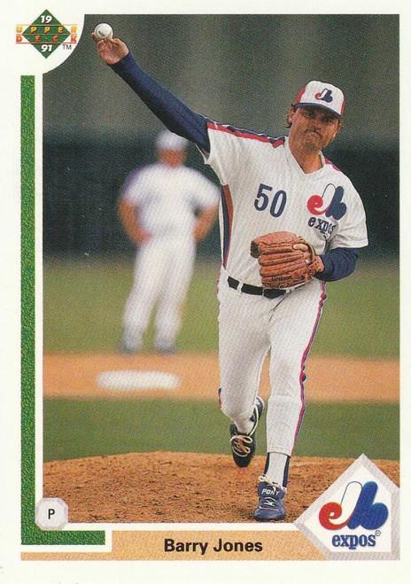 1991 Upper Deck #789 Barry Jones VG Montreal Expos