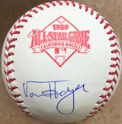 Von Hayes Autographed 1989 All-Star Game Baseball