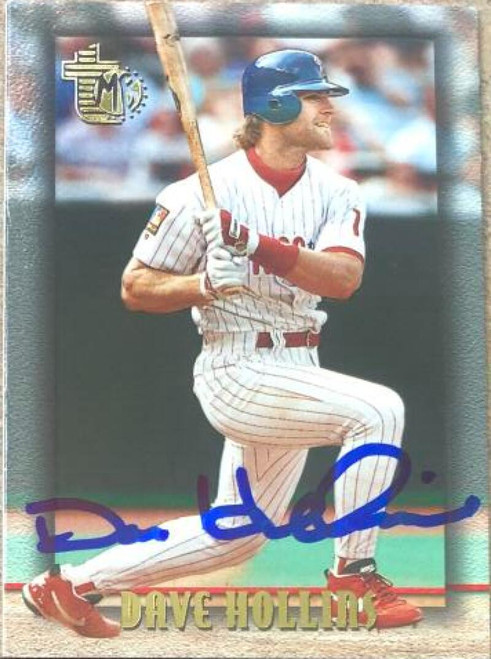 Dave Hollins Autographed 1995 Topps Embossed #47