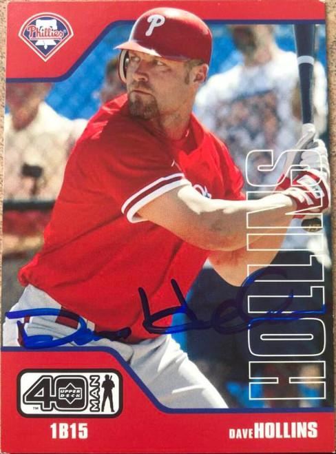 Dave Hollins Autographed 2002 Upper Deck 40 Man #892
