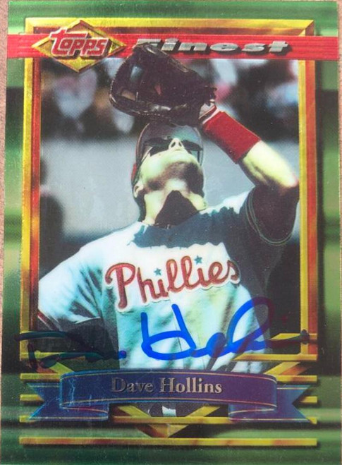 Dave Hollins Autographed 1994 Topps Finest #47