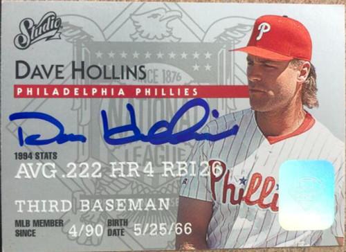 Dave Hollins Autographed 1995 Studio #124 ID: 119759
