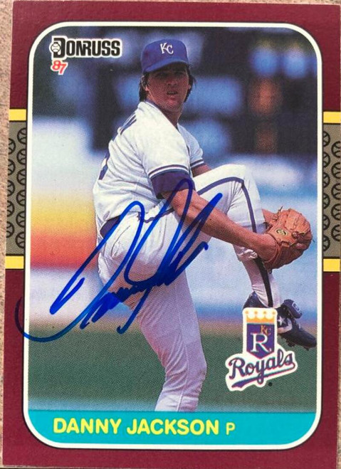 Danny Jackson Autographed 1987 Donruss Opening Day #203