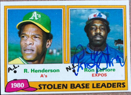 Ron LeFlore Autographed 1981 Topps #4