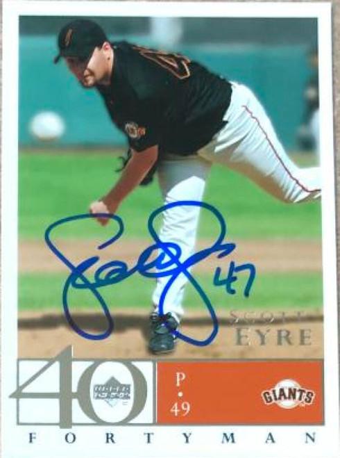Scott Eyre Autographed 2003 Upper Deck 40 Man #573
