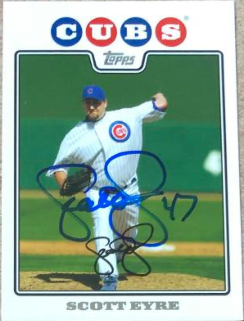 Scott Eyre Autographed 2008 Topps Gift Sets Chicago Cubs #54