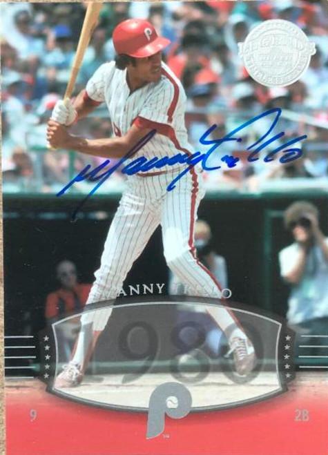 Manny Trillo Autographed 2004 Upper Deck Legends Timeless Teams #194