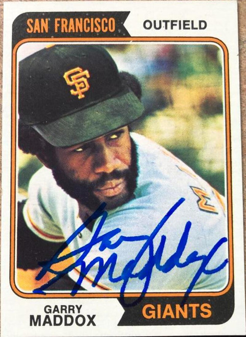 Garry Maddox Autographed 1974 Topps #178