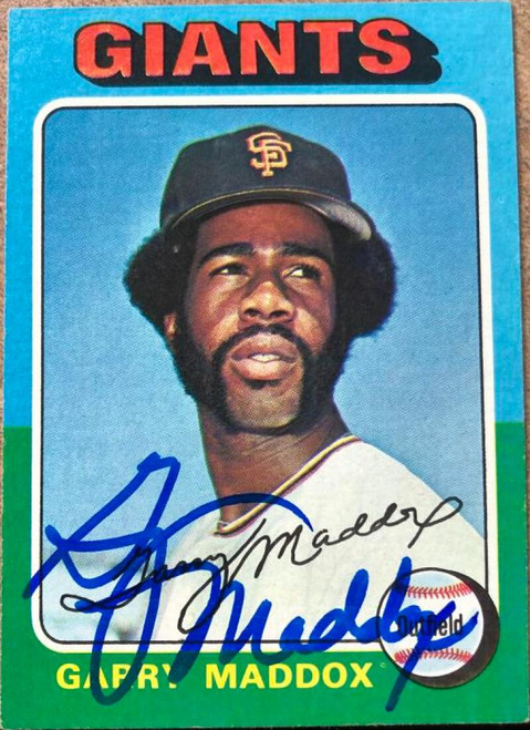 Garry Maddox Autographed 1975 Topps #240