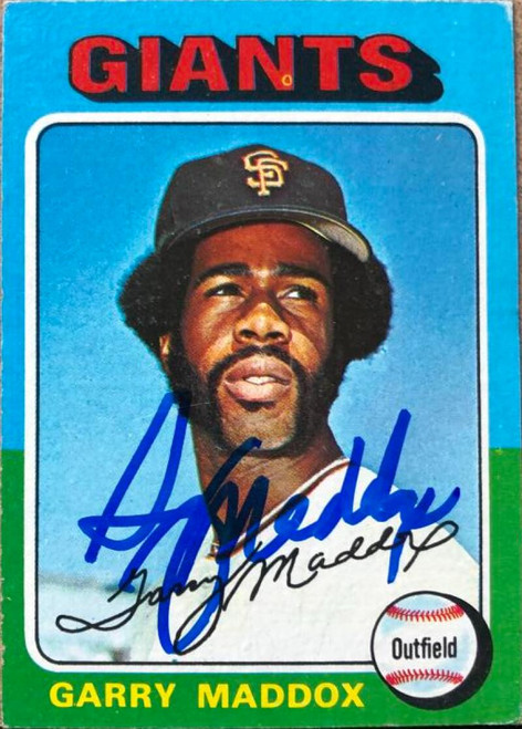 Garry Maddox Autographed 1975 Topps Mini #240