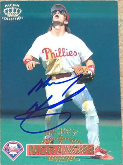 Mickey Morandini Autographed 1996 Pacific Crown Collection #154